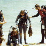 Steve and Open Water Class circa 1978