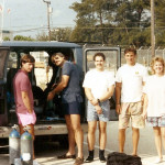 Steve and Open Water Referral students at Hollywood Beach circa 1990's