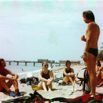 Steve and an Open Water class at Commercial Pier in 1977
