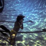 Student practices a kelp dive
